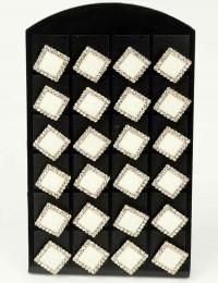 12 paires de B.O boutons carrés