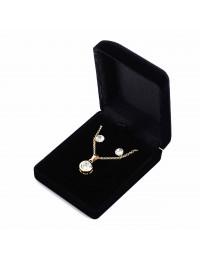 N542-Parure collier pendentif strass