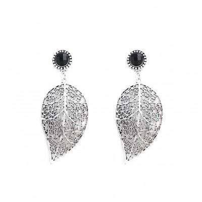 E500-Boucles d'oreilles feuilles