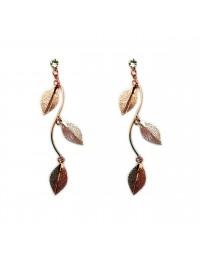 boucles d'oreilles métal branches de feuilles