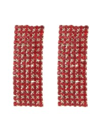 boucles d'oreilles mosaïques rectangle