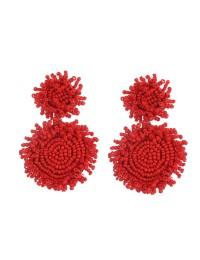 boucles d'oreilles reliées rondes