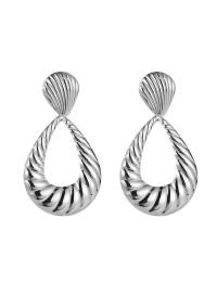 boucles d'oreilles spirales ovales