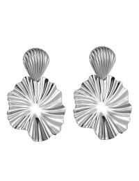 boucles d'oreilles métal strass rayure