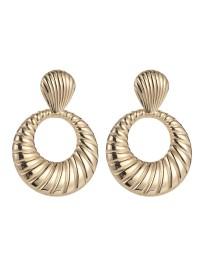 boucles d'oreilles spirales rondes métal
