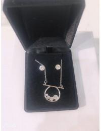 N1352-parure collier pendentif
