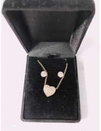 N497-parure collier pendentif